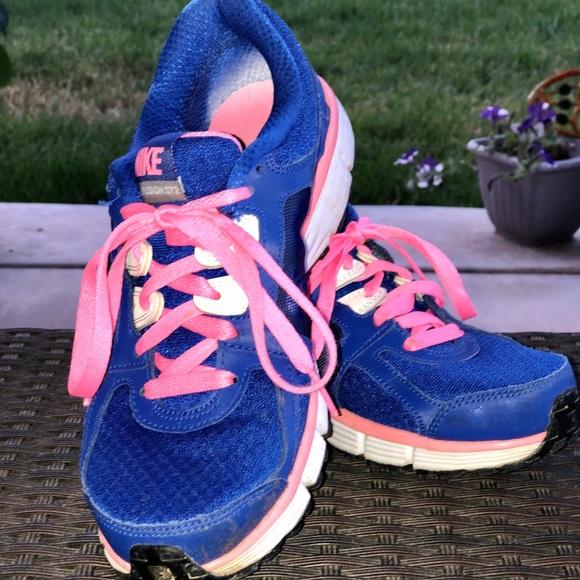 Dual Fusion Royal Blue Neon Pink Shoe